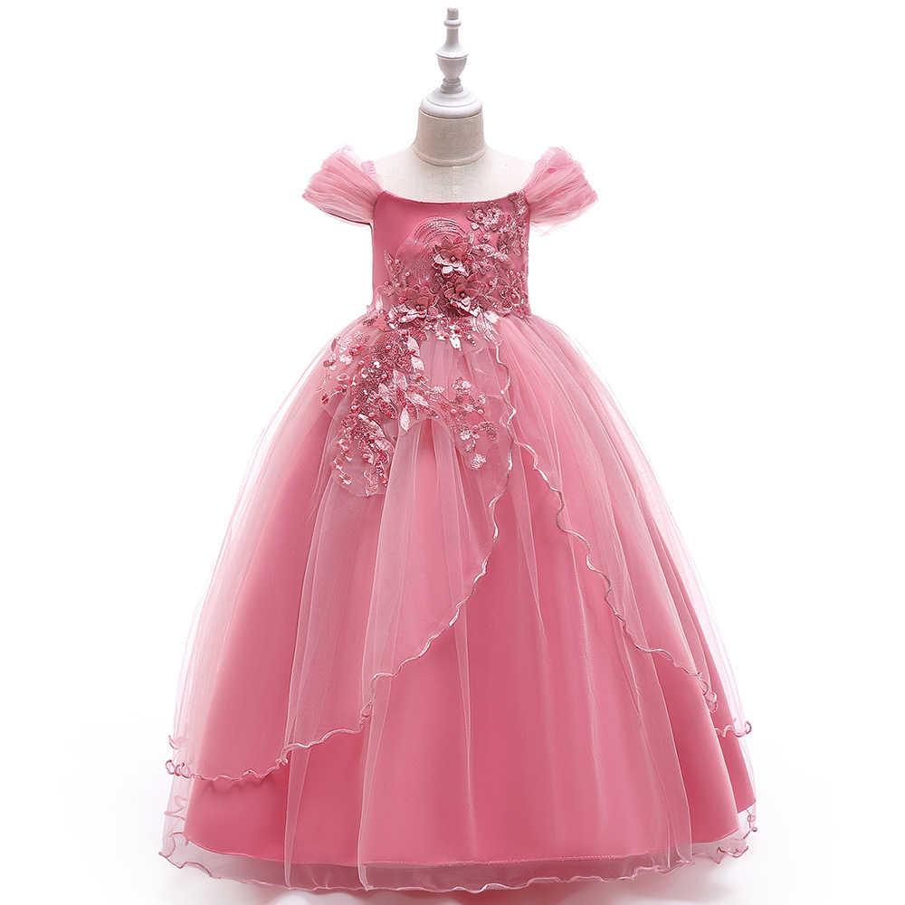 08b7f3f208 ... Children Birthday Princess Formal 12 13 14 15 Year Old Girls Graduation  Dresses Boutique Pink Floral ...