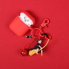 Japanese Hayao Miyazaki Cute Anime Kiki's Delivery Service Keychain Girl Kiki Figure Model Doll Keyrings for Backpack Purse недорого
