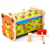 2017 Wooden Jenga Game Antistress Hit Hamster Toys Resin Miniature Ho Scale Children Kids Toy Whac