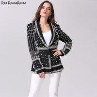 Barocco Latest Runway New Fashion Top Quality Women S Pearls Handmade Beads Novelty Jacket Luxury Black