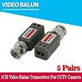 10 pcs 2000ft distância cctv vídeo balun passivo transceptores utp balun bnc cat5 cctv utp vídeo balun