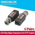 10 unids $ number pies distancia cctv video balun pasivo transceptores utp balun bnc cat5 utp video balun cctv