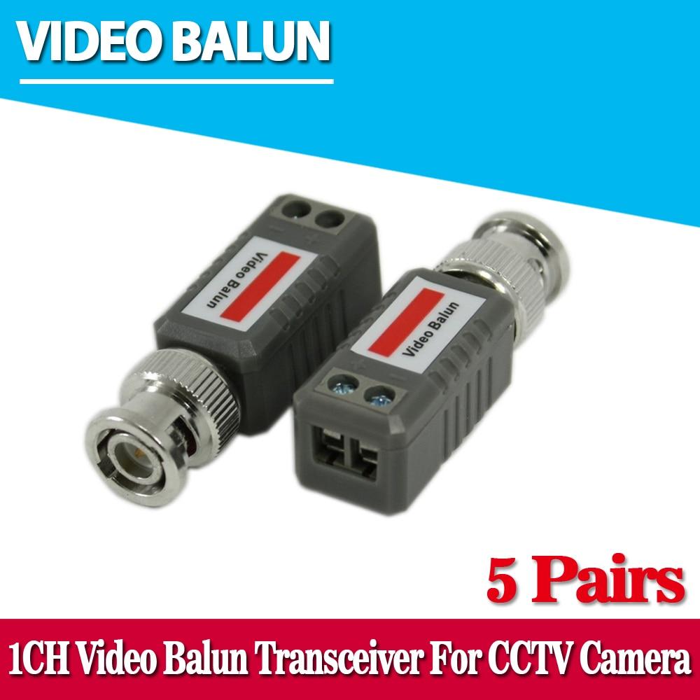 10pcs CCTV Video Balun Passive Transceivers 2000ft Distance UTP Balun BNC Cable Cat5 CCTV UTP Video Balun 10pair 20pcs lot twisted video balun passive transceivers 3000ft distance utp balun bnc cable cat5 cctv utp video balun lcc77