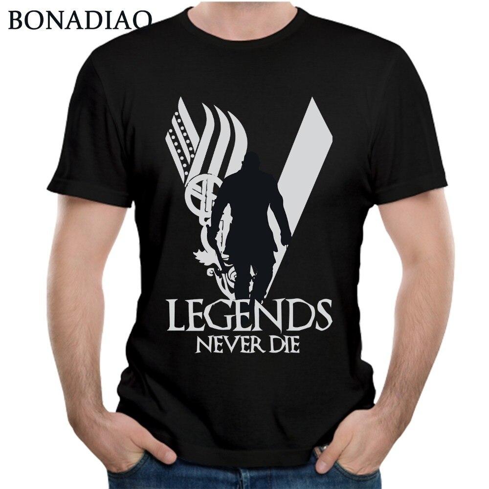 Legends Never Die Vikings   T     Shirt   For Men Fashion   T     Shirt   Plus size Nice Short-sleeved