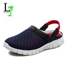 Мужские Летние Туфли, Сандалии 2017 Новый Дышащая Мужская Тапочки Сетка Освещенные Повседневная Обувь Открытый Скольжения На Обувь Пляж Флип флоп(China (Mainland))