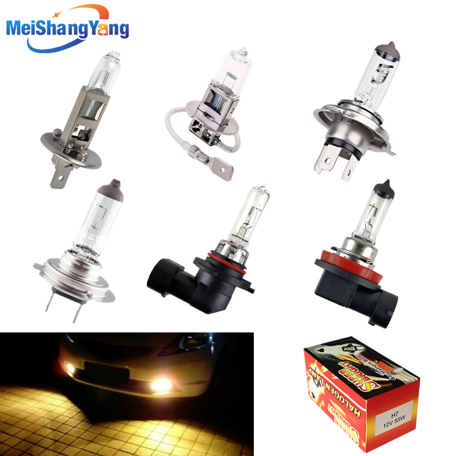 1PCS Yellow H1 H3 H4 H7 H8 H11 9005/HB3 9006/HB4 Halogen Bulb 12V 55W 100W 4300K Quartz Glass Xenon Car HeadLight Auto Lamp