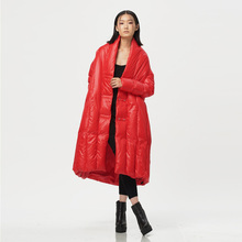 Original Design 2016 Winter Women Mantle Type Down Coat  Female Cloak Cape Long Down Jacket