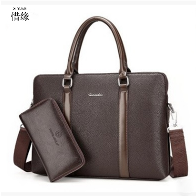 men luxury Business Handbag Mens Fashion Leather Tote Bag Male Sacoche Homme Document Laptop Shoulder bags Men Messenger Bags