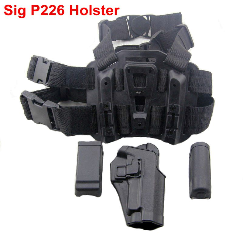New!Tactical Black Right Handed Leg Holster Airsoft Pistol Thigh Holster FIt For SIG SAUER P226 sig sauer p226 p228 p229 holster tactical hunting puttee thigh drop leg holster
