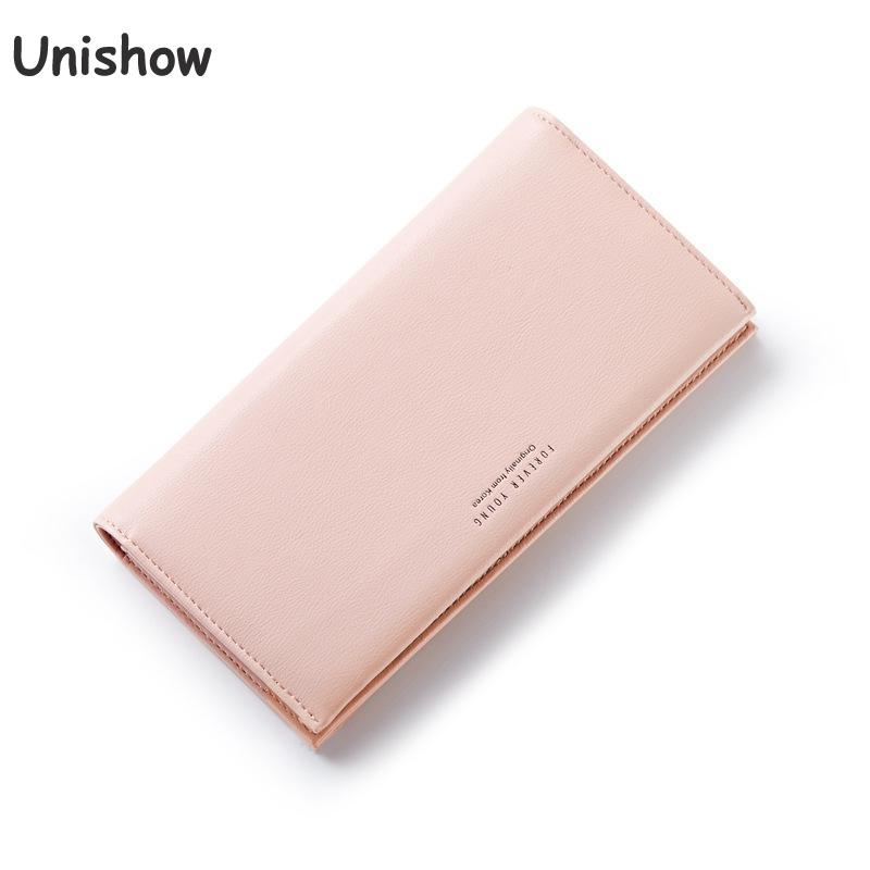 Unishow Elegant Wallet  Luxury Brand Women Wallet Fashion Korean Women Long Wallet Female Purse Clutch With Zipper Coin Bag