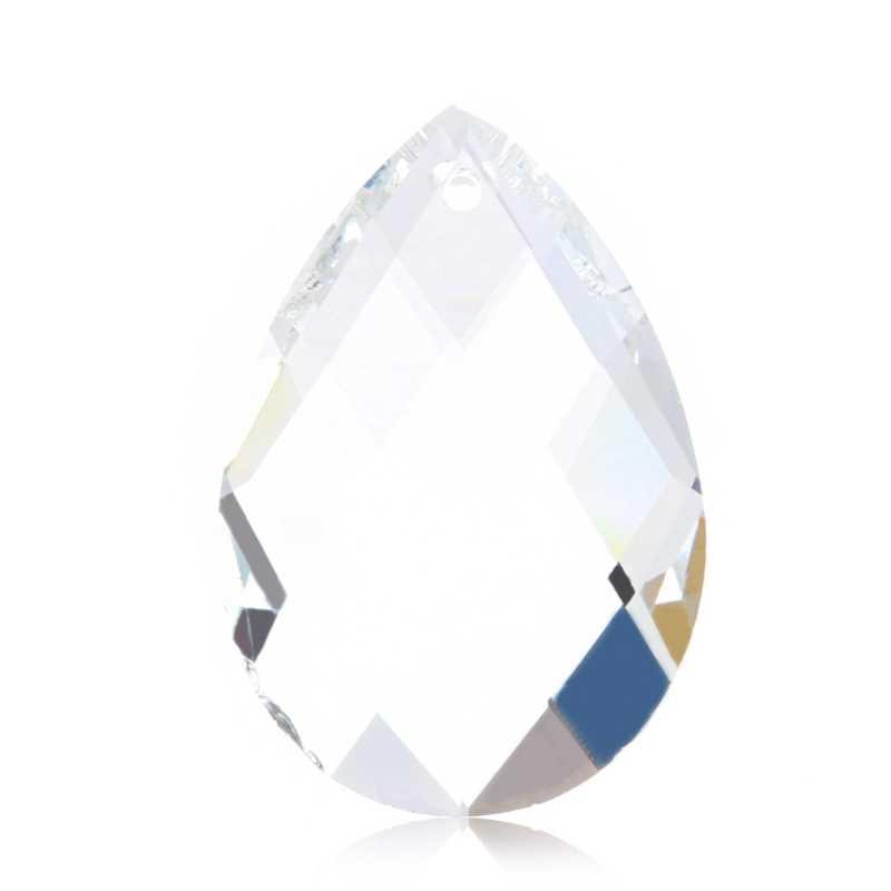 1pc siatka czysty żyrandol szklana lampa części pryzmatyczne wiszące krople zawieszki 38mm