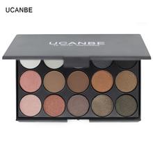 UCANBE Brand Eye Makeup Set 15 Earth Color Matte Pigment Eyeshadow Palette Cosmetic Shimmer Eye Shadow Make Up Kit