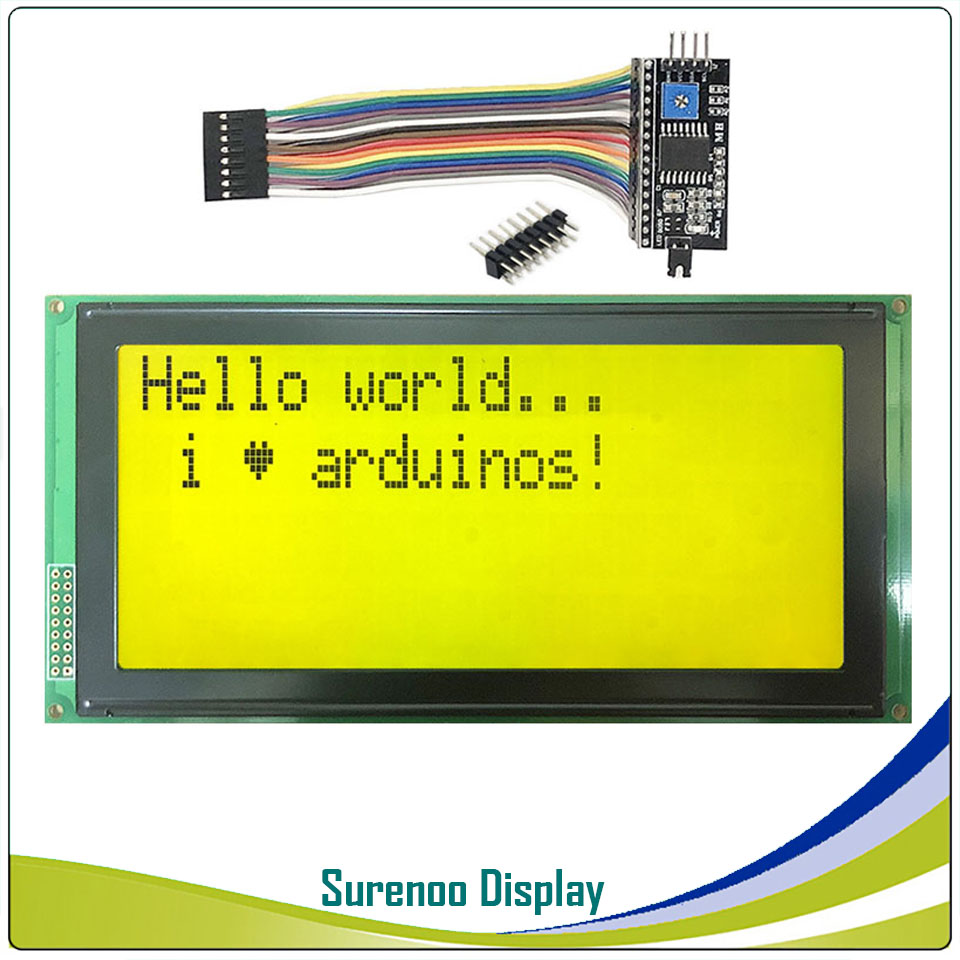 Serial IIC / I2C / TWI 2004 204 20*4 Largest Character LCD Module Display Yellow Green Blue with Backlight for ArduinoSerial IIC / I2C / TWI 2004 204 20*4 Largest Character LCD Module Display Yellow Green Blue with Backlight for Arduino