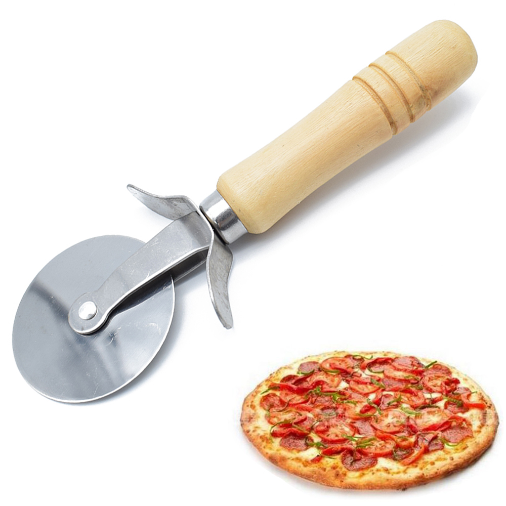 LIMITOOLS New Hot Pizza Cutter Blade Wood Handle Stainless Pastry Pasta Dough Crimper Round Hob Nonstick Knife For Pizza нож для пиццы