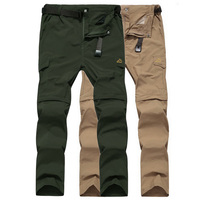 6XL Loose Quick Dry Removable Waterproof Pants Men Outdoor Trekking Sports Trousers Summer Mountain Climbing Hiking Pants,AM052