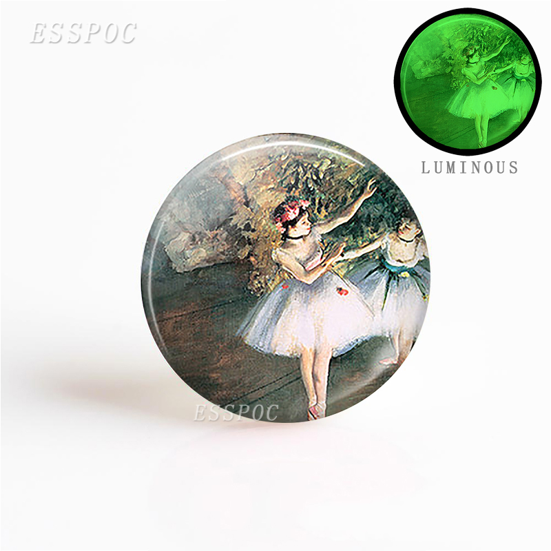 Fashion Accessories 1 PCS Degas Ballerinas DIY Pendant Making Necklace 25mm Round Glass Cabochon Dome Gemstone Jewelry
