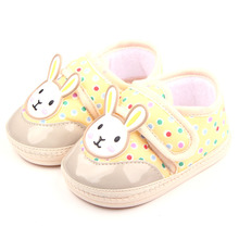 Милые Животные Крючок и Петлю 6 Дизайн TPR Подошва Хлопок Новорожденных Мальчиков И Девочек Обувь 0-12 M