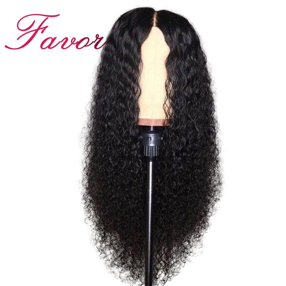 180% Плотность вьющиеся Glueless Синтетические волосы на кружеве Парики Бразильский Реми природных вьющиеся волосы человека парики для черный Д