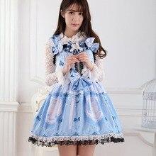 Платье в стиле Лолиты, большие размеры, классическое платье в стиле панк, платье в стиле Лолиты, платье для костюмированной вечеринки с милым рисунком кота, платье принцессы JSK с кружевным подолом для женщин и девочек