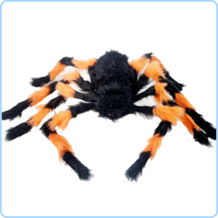 free shipping high quality 75cm halloween decoration supplies shock toys color flower black plush spider