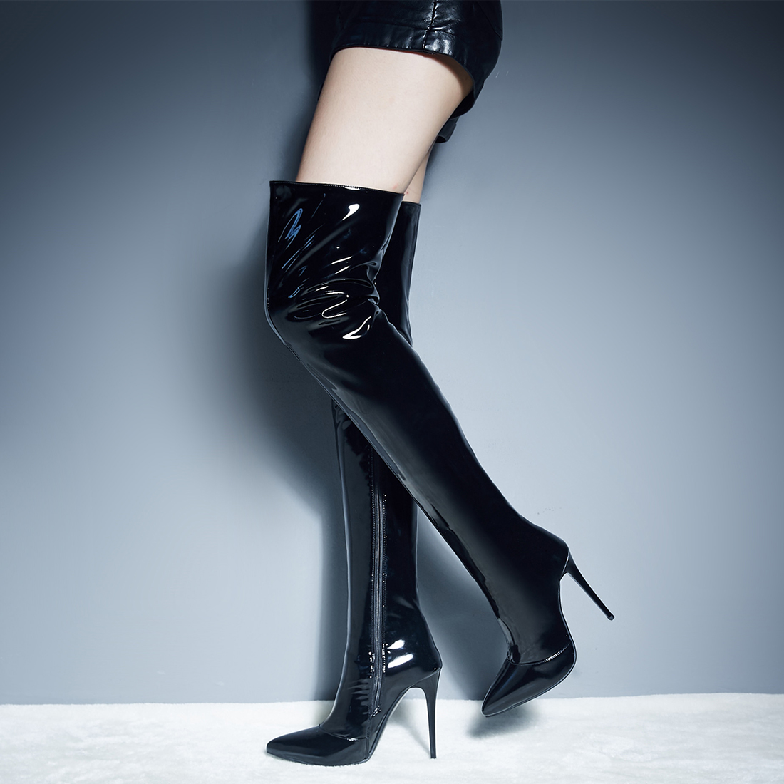 Compare Prices on Sexy Thigh High Leather Boots- Online Shopping ...