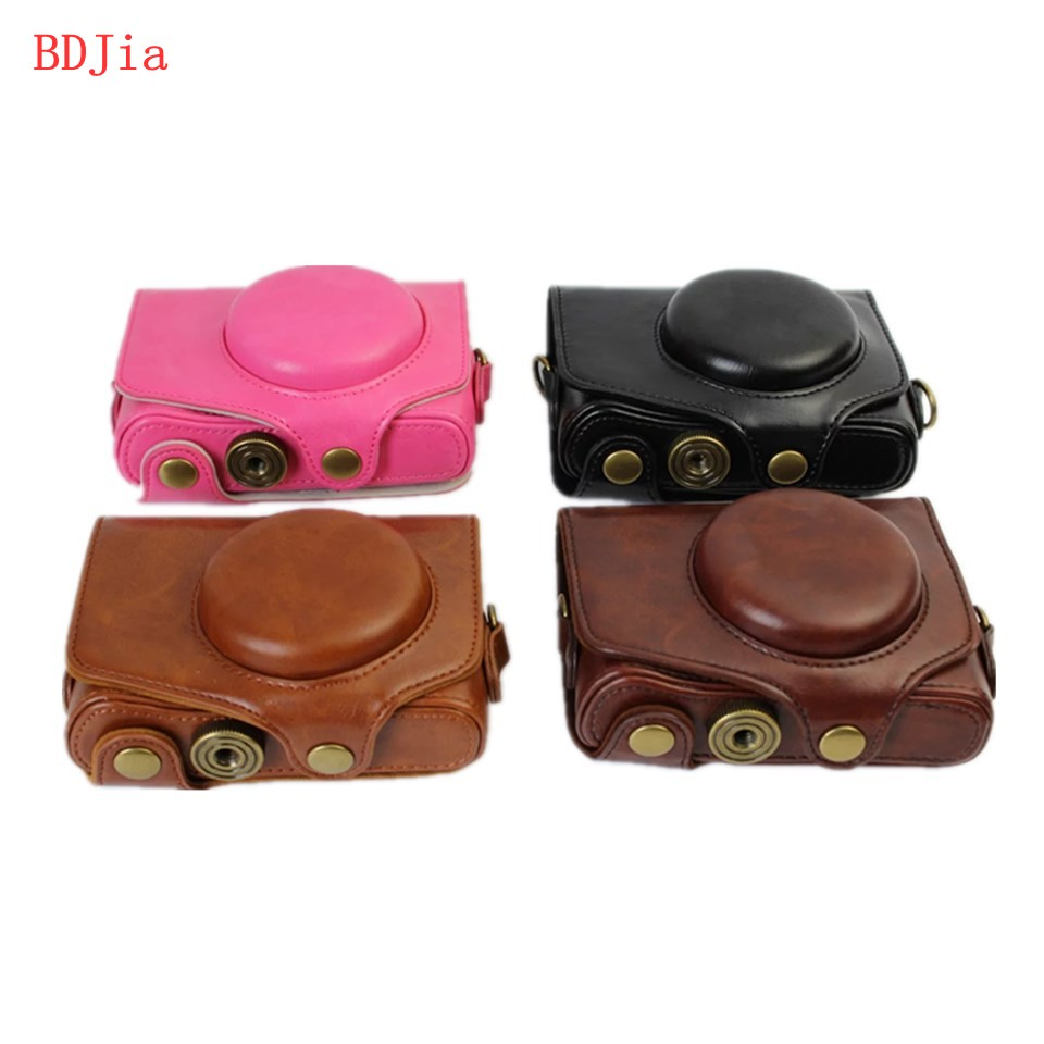 NEW PU Leather Camera Case Bag Cover for Canon PowerShot SX730 SX720 With Shoulder Strap,4 Colors for choose,Free Shipping