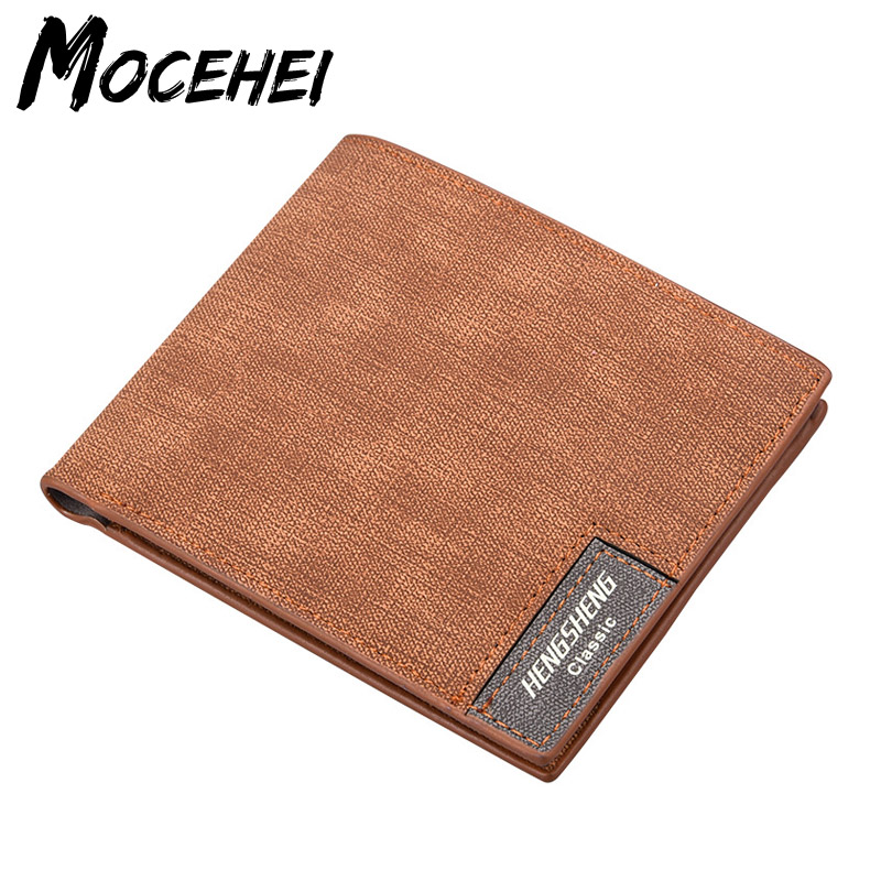 Vintage Men Wallet Male Short Design High Quality Leather Wallets Dollar Gentleman Card Holder Purses Carteira Masculina LY071 baellerry high quality men leather wallets vintage male wallet three hold purse for men short purses carteira masculina d9150