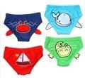 Venta caliente 2014 Del Verano de la Playa traje de Baño Los Niños traje de Baño del Muchacho natación troncos de Dibujos Animados animal envío de La Gota