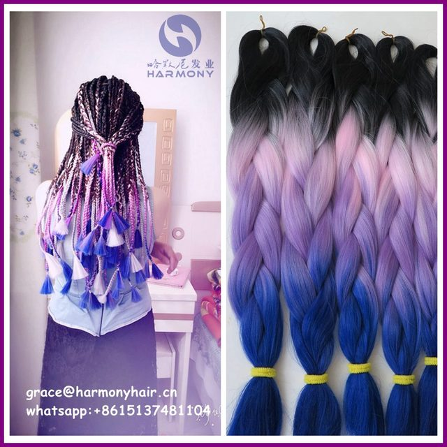 Free Shipping 10packs 24 100g Crazy Fantasy Lilac Lavender Ombre