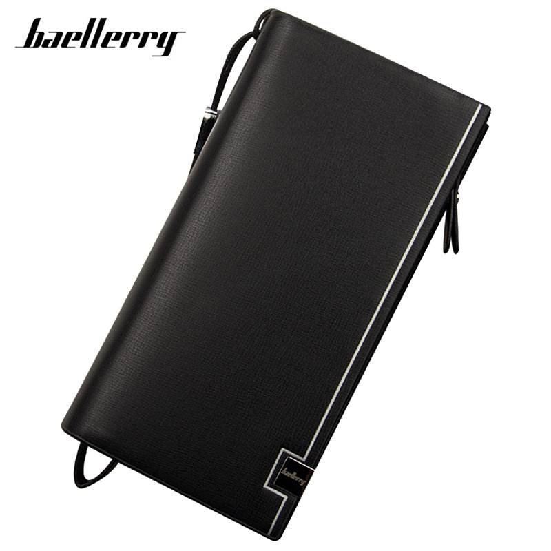2017 New design men wallets Casual wallet men purse Clutch bag Brand leather wallet long design men bag gift for men HQB1896