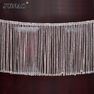 Image 1 - JUNAO 45 см/партия, блестящая металлическая лента для одежды