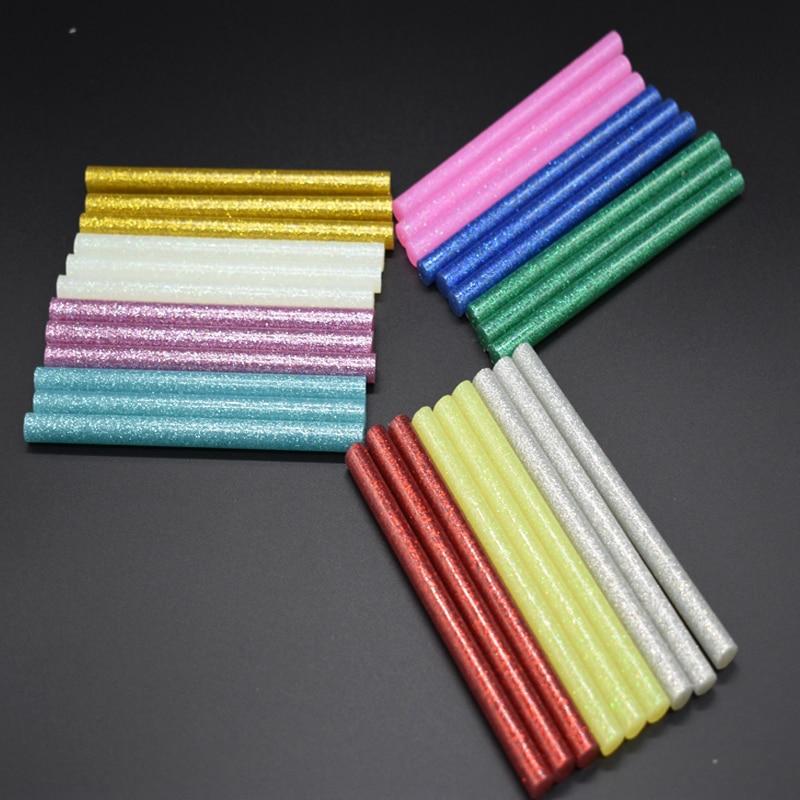 DIY 5pcs Colourful 7mm *100mm Hot Melt Glue Sticks For Glue Gun Craft Phone Case Album Repair Accessories Adhesive 7mm Stick