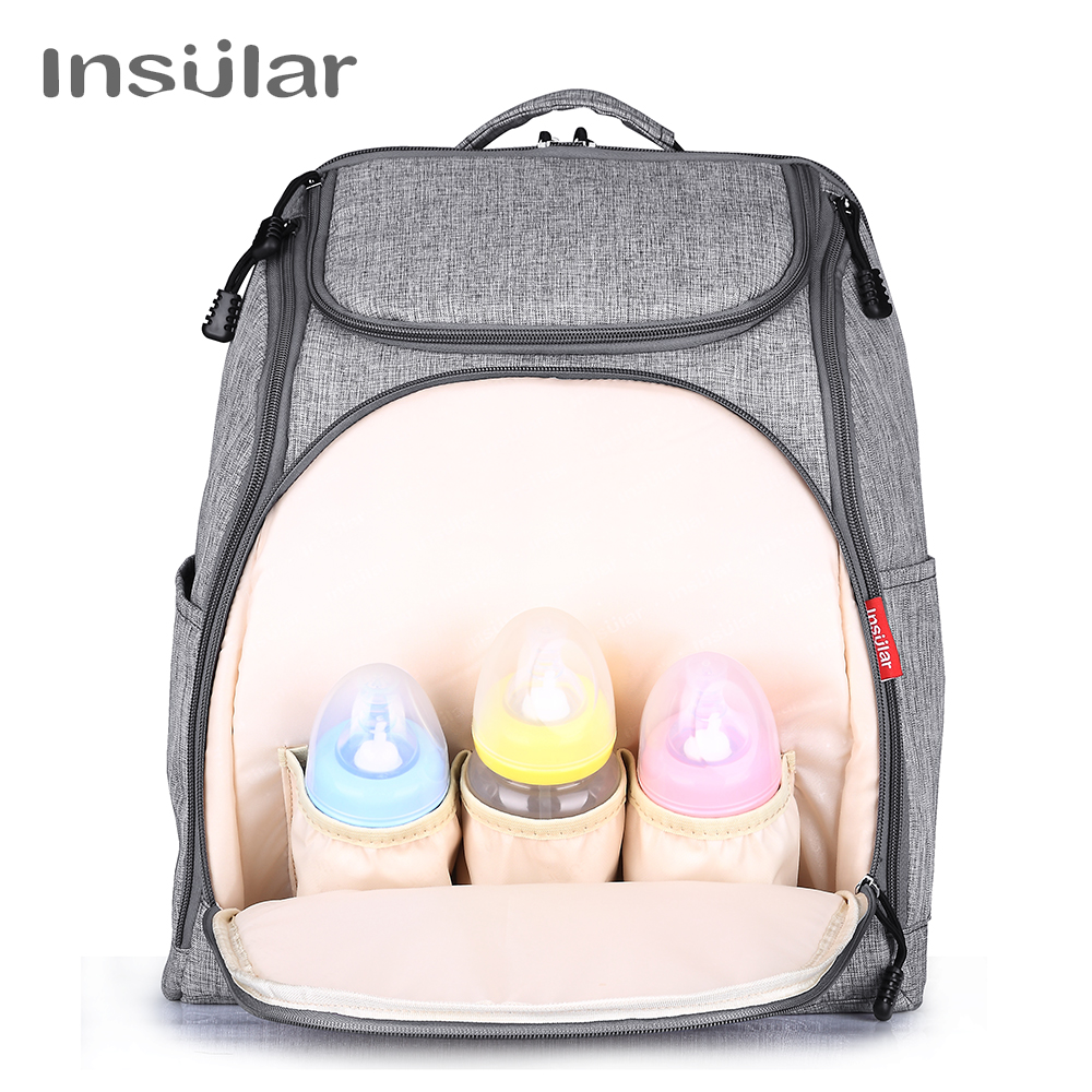 INSULAR Mother Tote Bag Baby Nappy Changing Carriage Bag Large Capacity Maternity Mummy Diaper Backpack On Baby Stroller Bags insular fashion nappy diaper bag backpack mother bags baby stroller mummy bag multi functional nylon large capacity travel bags