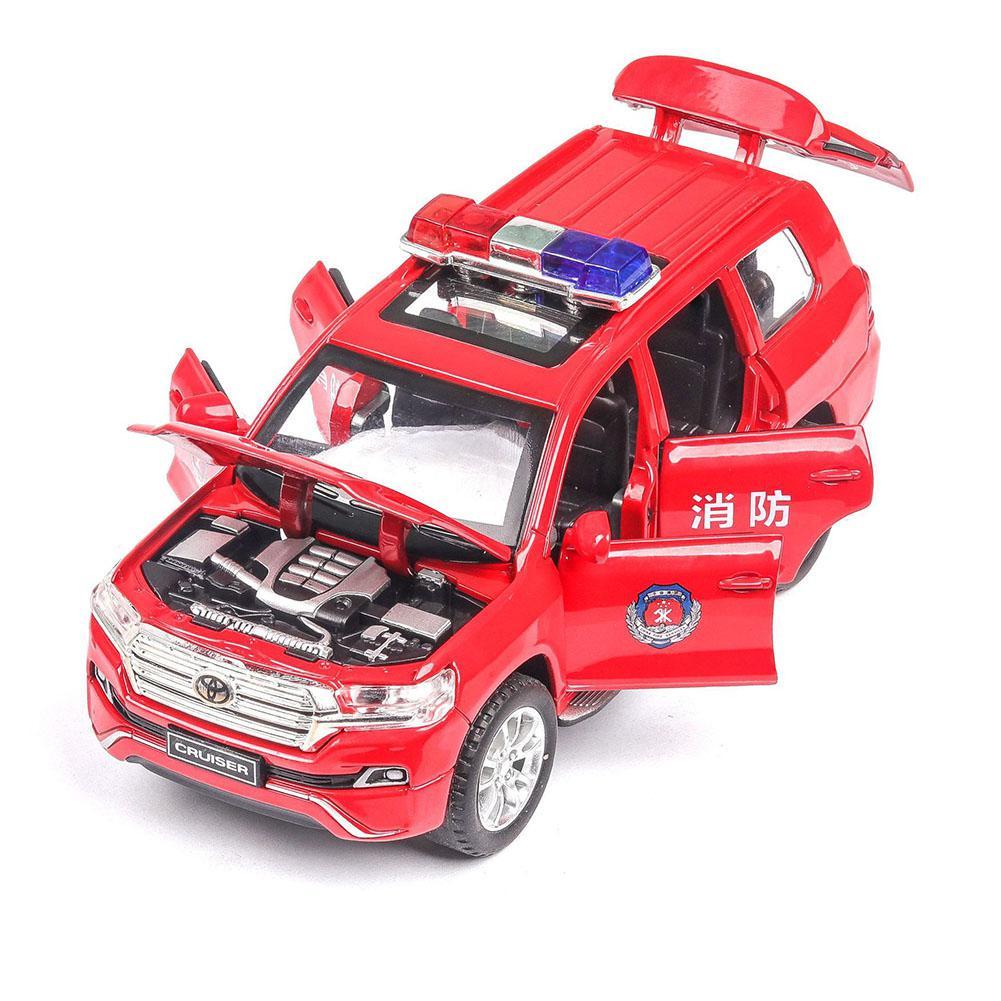 HobbyLane Children 1/32 Alloy Pull Back Simulation Police Car Plastic Music Light Vehicle Model Toys Gift Ornaments Decoration