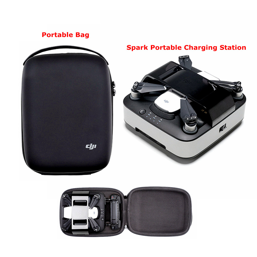 Original DJI Spark Portable Charging Station Hub & Portable Bags for DJI Spark Drone Battery Controller 3 in 1 battery charger for dji spark intelligent flight battery charging hub