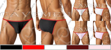 Red edge modification Classic Concise* 3141 *sexy men lingerie T-Back Thong G-String T pants Brief Underwear free shipping