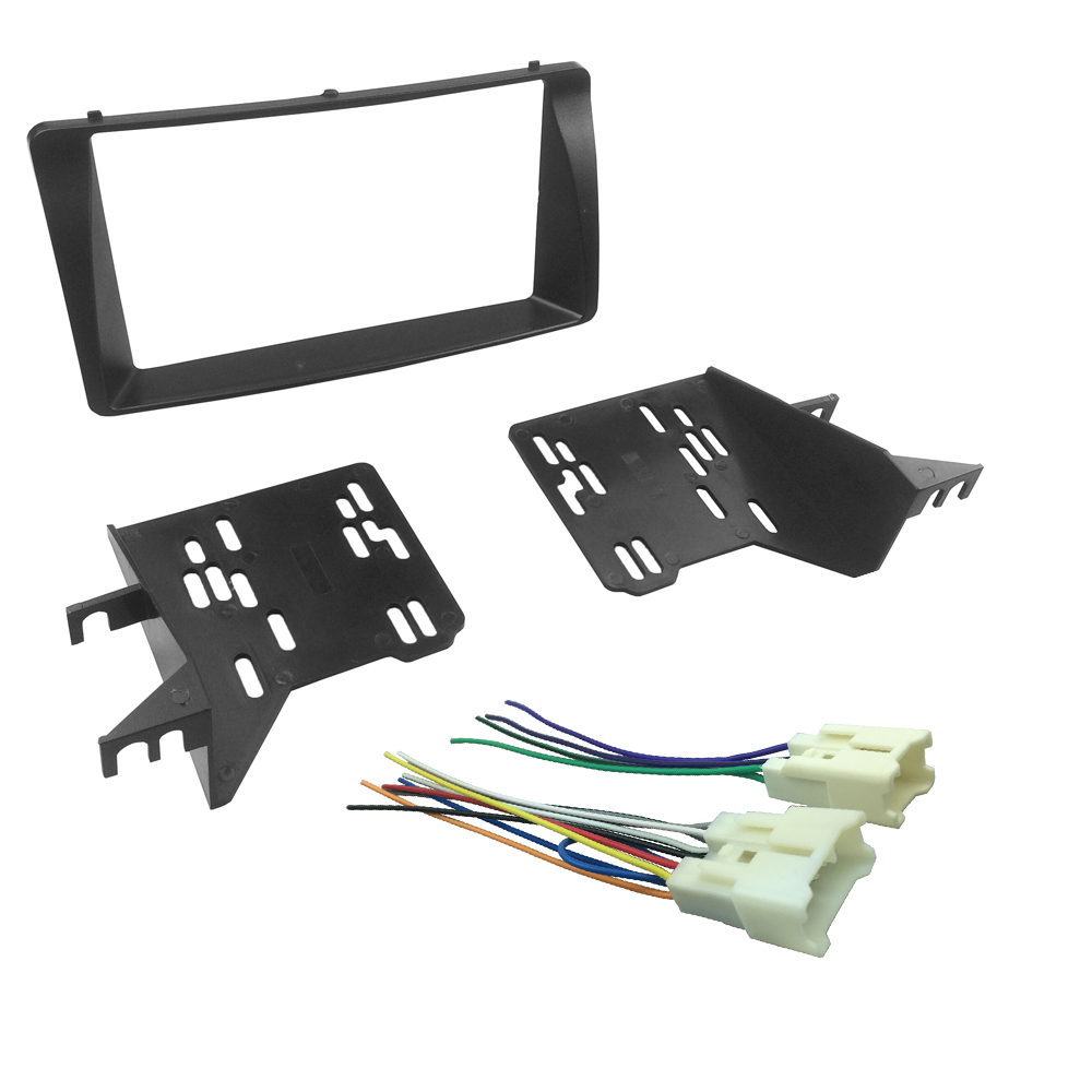 hight resolution of double din fascia for toyota corolla wiring harness headunit radio cd dvd stereo panel dash mount install trim kit frame in fascias from automobiles