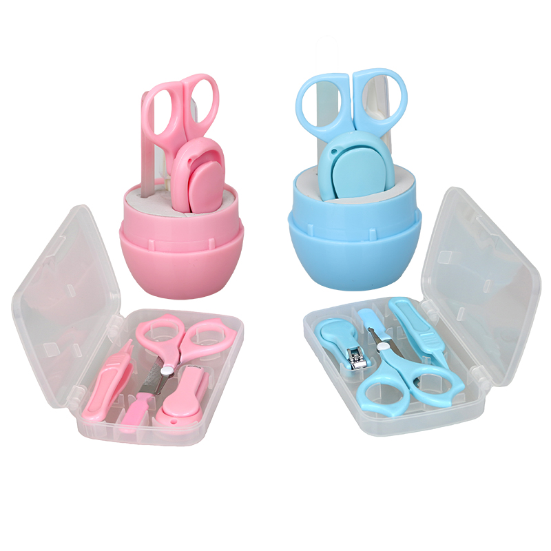 1 Set Mini Toddler Baby Nail Clippers Set with Scissors Cutters Safety Finger Manicure Trimmer Tweezers