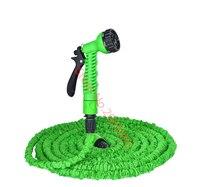 Expansível pés de mangueira flexível de água para jardim mangueiras de rega de plástico com Spray de carro arma