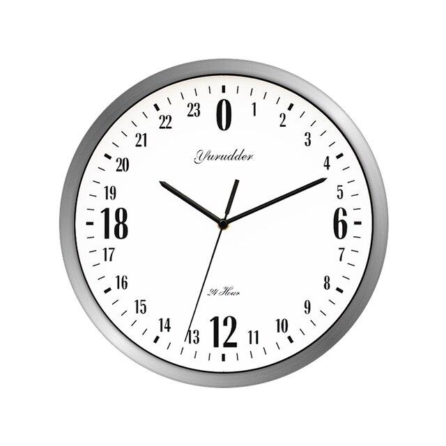 c102e3ab3 أحدث 24 ساعة الطلب تصميم 12 بوصة إطار معدني الموضة الحديثة الزخرفية جولة ساعة  الحائط