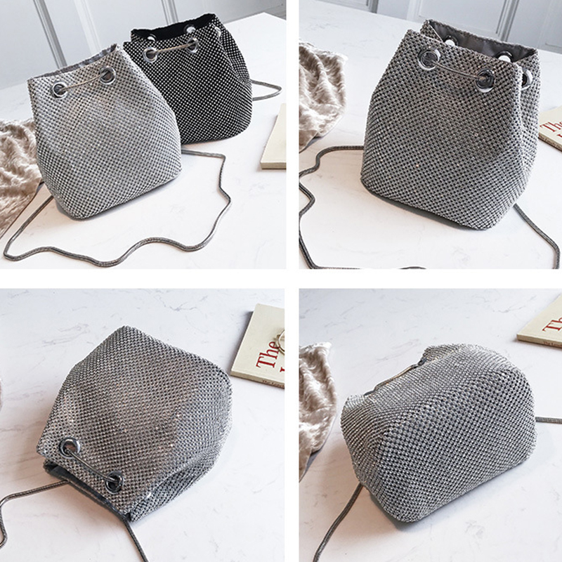 Luxy Moon Full Diamond Women Shoulder Bag Totes Bling Evening Bag Party  Purse Wedding Metal Chain Lady Glittering Wallet ZD2000-in Top-Handle Bags  from ... f6f1f88c548a