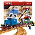 724 unids AlanWhale Pick-Up de La Vendimia tren de Mercancías Playset de Tren Modelo de Tren locomotora Building Blocks Ladrillos Compatible Con Lego