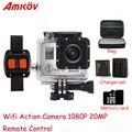 """AMK7000S 2.0 """"LCD 4 K Wifi Câmeras de 170 Graus Grande Angular 1080 P 20MP DV À Prova D' Água 40 m Esportes Câmara de vídeo"""