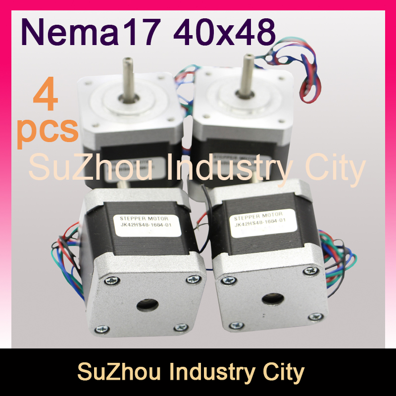 Free Sale 4 Pcs Nema17 Cnc Stepper Motor 42 X 48mm For