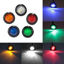 2pcs 3 LED Car External Lights DC 12V Auto Bus Truck Lorry Side Marker Indicator Trailer Light Rear Lamp D45