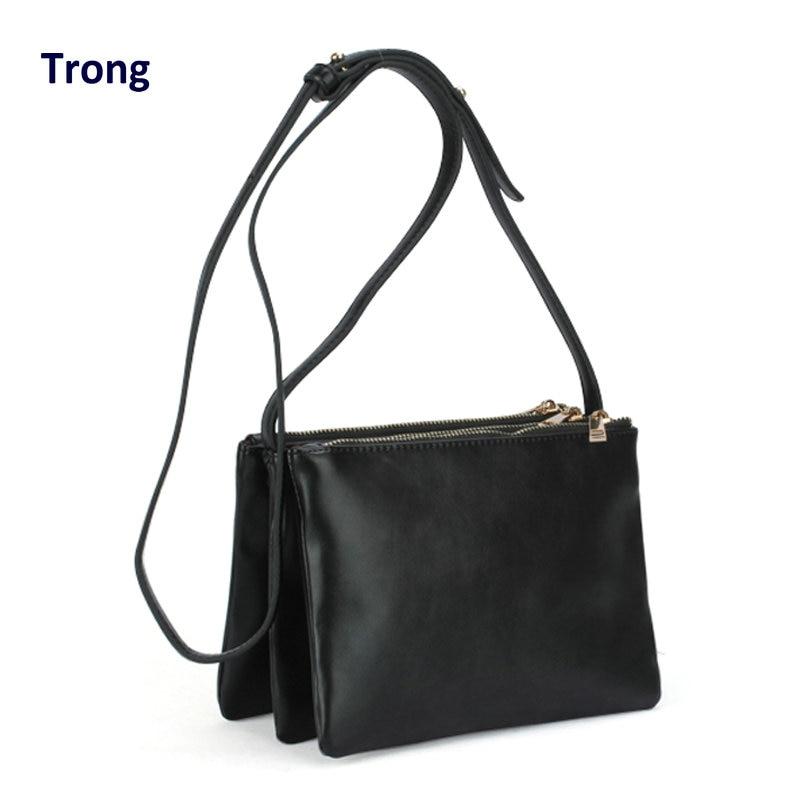 Vintage 3 three layer bag women s summer handbag accordion small triple zipper crossbody clutch messenger