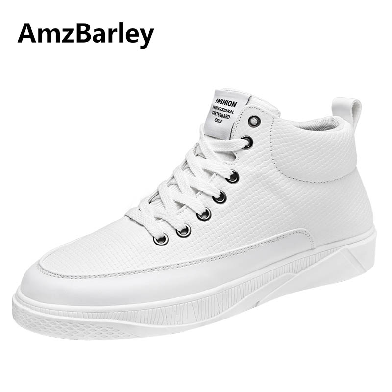 AmzBarley Men's Shoes Flats High Top Hip Hop Lace Up Gingham Pattern Leather Casual Men Black Walking Footwear Zapatillas valstone 2018 men leather casual shoes hip hop gold fashion sneakers silver microfiber high tops male vulcanized shoes sizes 46