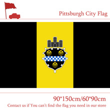 City Flag Of Pittsburgh 90*150cm 60*90cm Sate of Pennsylvania 3*5ft High-quality 100d Polyester For Vote Event Office