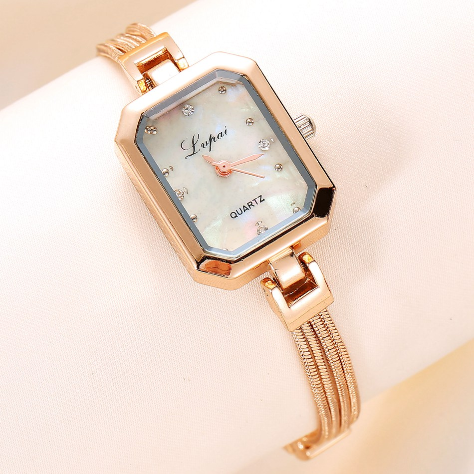 Lvpai  Luxury Watches For Women New Fashion Brand Women Watches Gold Crystal Wristwatch Clock Female Ladies Bracelet Watch lvpai brand new arrival 2017 women watches luxury fashion quartz wristwatch ladies steel classic crystal gold dress clock lp022
