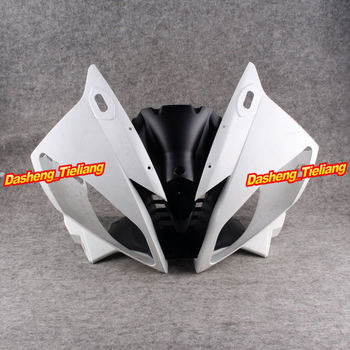 GZYF Upper Front Cover Cowl Nose Fairing for Yamaha 06 07 YZF R6 2006 2007, Injection Mold ABS Plastic, Unpainted
